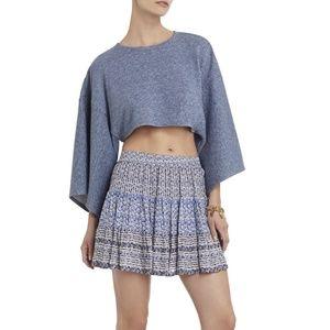 BCBGMaxAzria Kerey Kimono-Sleeve Cropped Top NWOT